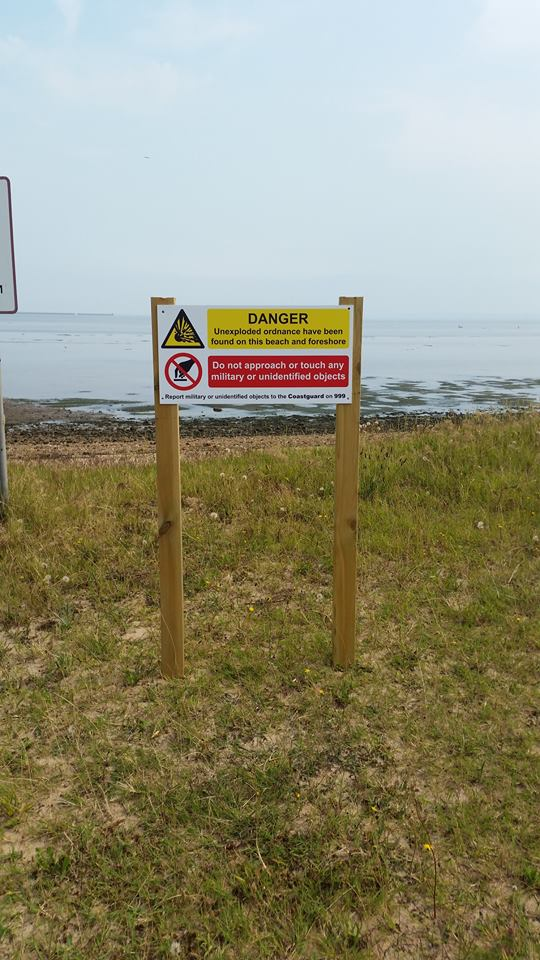 Signs at East Beach…