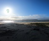 La kitesurfista solitaria